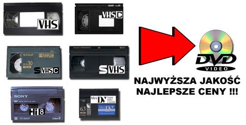 Archiwizacja - Przegrywanie kaset VHS na DVD
